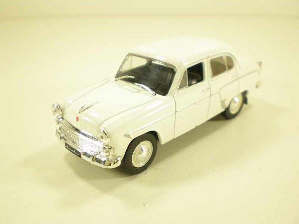 Автолегенды №32 Москвич-403 белый | Коллекционная модель 1:43 | DeAgostini