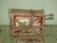Мыло биоактивное ручной работы «Шоколадная Феерия» с фитором, глицерином, и маслом какао-бобов.