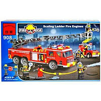 Конструктор Brick 908 пожарные спасатели, 607 деталей, размер коробки 48*6,5*32 см. в ящике 18 шт.