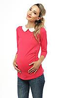 Топ футболка с круглым воротником — Малиновый, фото 1