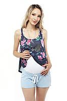 Шорты для беременных — Голубые L Размер, фото 1