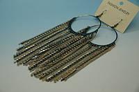 Модные длинные серьги с цепочками и камнями .456