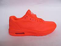 Кроссовки женские Nike Air Max сетка, оранжевые (найк аир макс)р.37