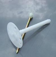 Дюбель для теплоизоляции Вкрет Мет с металлическим стержнем и термоголовкой 10х120 мм., фото 1