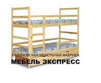 Двухъярусная кровать с перегородками на нижнем ярусе