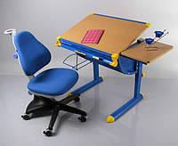 Детский стол Mealux BD-1122  столешница бук / ножки синие, фото 1