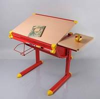 Детский стол, парта Mealux BD-1122, столеница клен / ножки красные