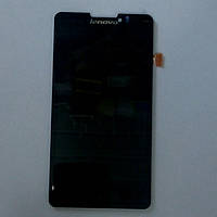Дисплей с сенсорным экранов для телефона Lenovo P780 черный