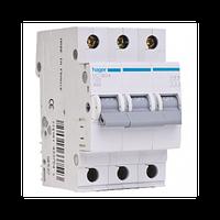 Автоматический выключатель Hager MC313A  In=13 А, 3п, С, 6 kA, 3м