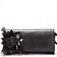 Клатч вечерний Giorgio Ferrilli черный с цветком