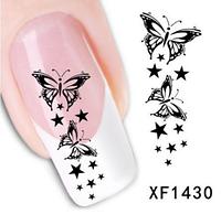 """Наклейка на ногти, наклейка для ногтей, ногтевой дизайн """"бабочки"""" 15 шт набор"""