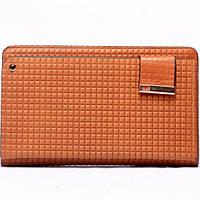 Мужской кошелек портмоне EARLCAT  светло-коричневый кожа 100%