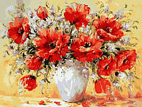 Картина по номерам Турбо Букет маков худ Джанильятти, Антонио (VK024) 30 х 40 см