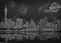 Скретч-картина Ночной Сидней / Картина гравюра, фото 1
