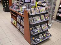 Стеллаж торговый для журналов. Стеллажи в книжный магазин. Стеллаж для прессы. Торговое оборудование WIKO