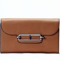 Женский кошелек на цепочке светло коричневый