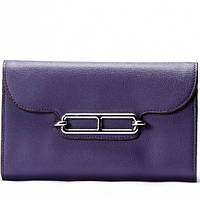 Женский кошелек на цепочке  фиолетовый