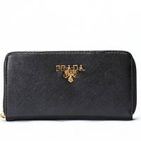 Женский кошелек Prada черный, фото 1