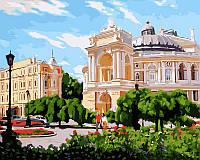 Картина-раскраска DIY Babylon Одесса Оперный театр летом худ Бабынин Валерий (VP398) 40 х 50 см