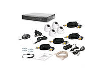 Комплект проводного видеонаблюденияКомплект видеонаблюдения Tecsar 4OUT-DOME LUX