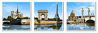 Картина-раскраска Турбо Триптих Набережная Сены (VPT007) 50 х 150 см