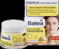 Дневной крем против морщин с Сафлоровым маслом Balea Q10 Anti-Falten Tagescreme  50 мл