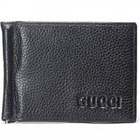 Мужской кошелекзажим Gucci черное