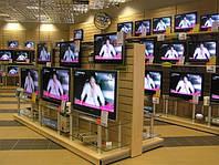Новые торговые стеллажи для магазина электроники разработка концепции. Торговое оборудование WIKO Киев, фото 1