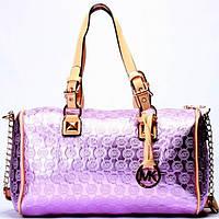 Женская сумка Michael Kors  фиолетовая с розовым