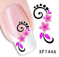 """Наклейка на ногти, наклейка для ногтей, ногтевой дизайн """"розовые цветы"""" 15 шт набор"""