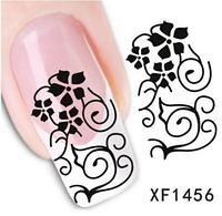 """Наклейка на ногти, наклейка для ногтей, ногтевой дизайн """"черные узоры"""" 15 шт набор"""