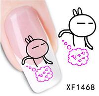 """Наклейка на ногти, наклейка для ногтей, ногтевой дизайн """"кролик"""" 15 шт набор"""