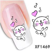 """Наклейка на ногти, наклейка для ногтей, ногтевой дизайн """"котики"""" 20 шт набор"""