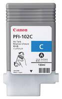 Картридж Canon PFI-102C (cyan) для iPF500/600/ 605/610/700/710/720/LP17/LP24