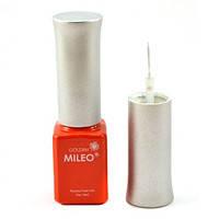 Гель краска Mileo с тонкой кисточкой для рисования