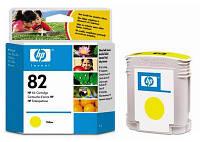 Картридж HP No.82 для DesignJet 111/510 yellow