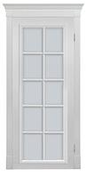 """Двери межкомнатные шпонированные «ПРАГА» ПОО со стеклом """"Сатин односторонний"""" (белая)"""