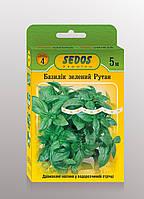 Базилік зелений Рутан (на 5м водорозчинній стрічці) - SEDOS