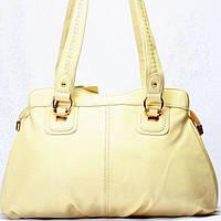 Женская сумка Gilda Tohetti бежевая однотонная, фото 1