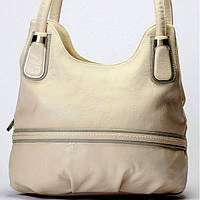 Женская сумка Giorgio Ferrilli серо - бежевая