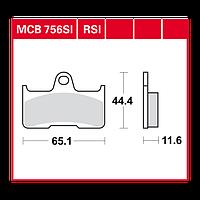 Тормозные колодки для квадроциклов Yamaha / CF MOTO TRW / Lucas MCB756SI