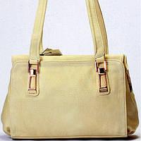 Женская сумка Gilda Tohetti бежево-серая, фото 1