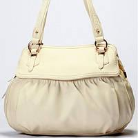 Женская сумка Gilda Tohetti бежевая, фото 1