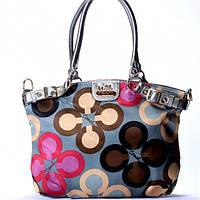 Женская сумка Coach  серебристая