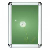 Рамка алюминиевая А3 формат 25 клик-система (с закругленными углами), фото 1