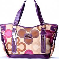 Женская сумка Coach  фиолетовая