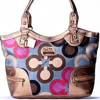 Женская сумка Coach бронзовая