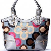 Женская сумка Coach серебрянная