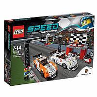 LEGO® Speed Champions  ФИНИШНАЯ ЛИНИЯ ГОНКИ PORSCHE 911 GT