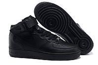 Кроссовки Nike Air Force High черные (Унисекс)